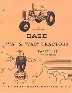 ... Manuals > See more J I Case Model VA Series Tractors Parts Catalo