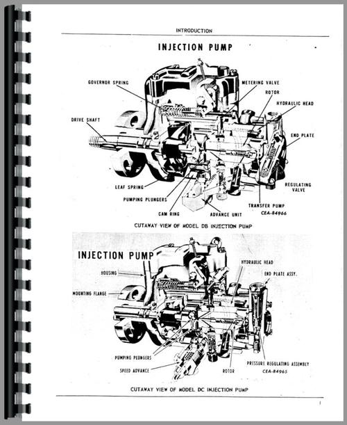 Parts Manual for International Harvester 3600A Injection Pump Sample ...