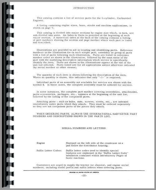 Parts Manual for International Harvester 3600A Industrial Tractor ...