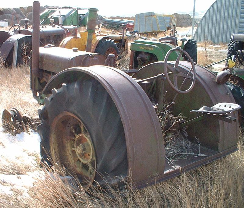 1938 John Deere Model D Unstyled On Rubber Farm Tractor