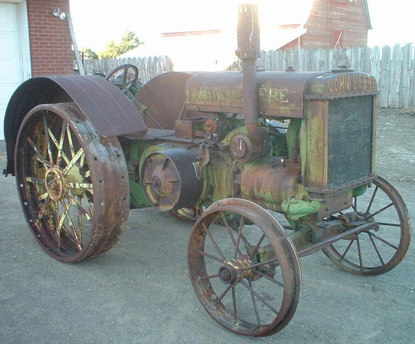 1928 John Deere Model D Unstyled On Steel Farm Tractor