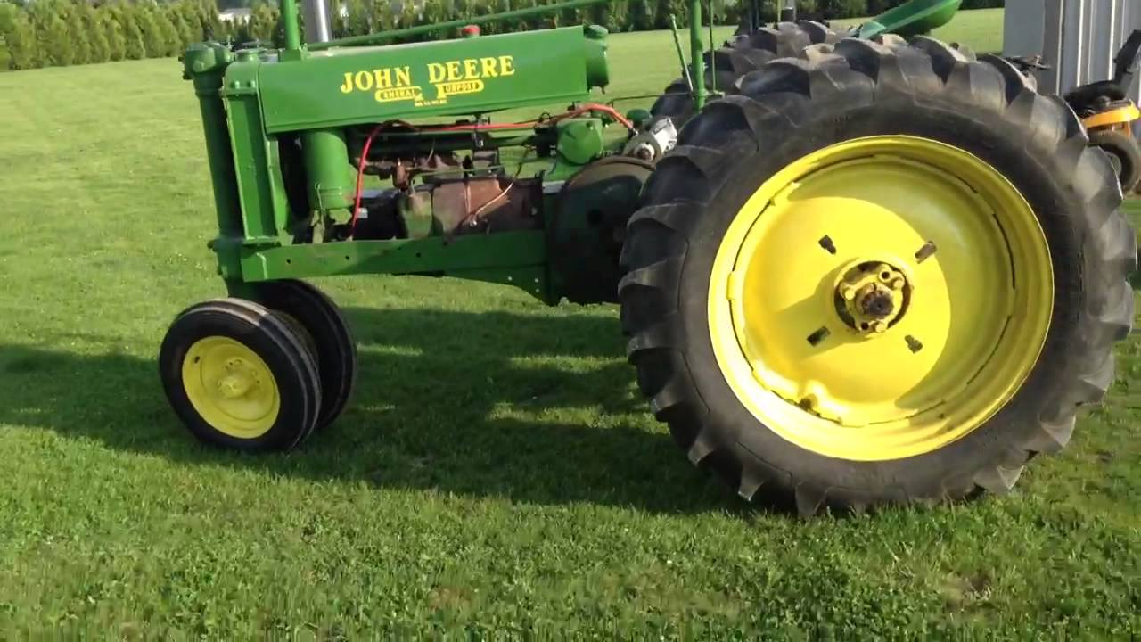 JOHN DEERE UNSTYLED G PULLING TRACTOR FOR SALE - YouTube