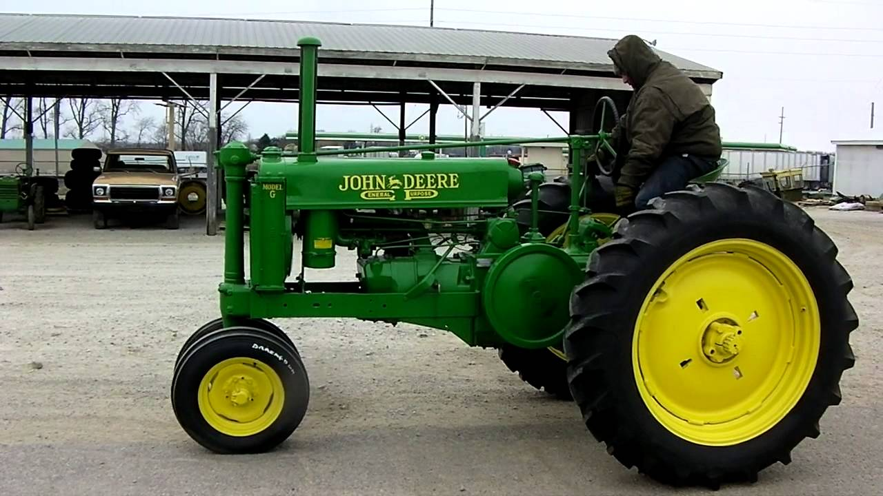 1941 JOHN DEERE UNSTYLED G TRACTOR - YouTube