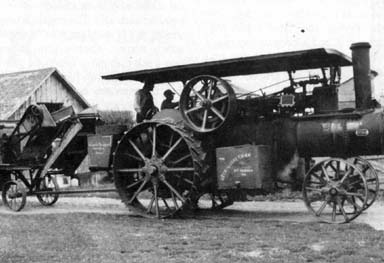 ... out, morning of threshing day with the 20 HP double Keck Gonnerman