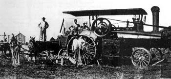 Keck-Gonnerman engine #1246, 25 HP. Owner Fred Guhl, Stuttgart ...