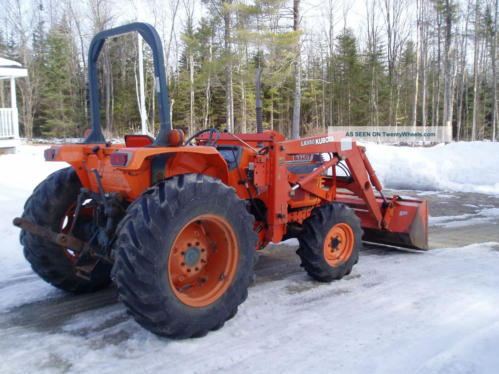1991 Kubota L3750 45hp 5 Cylinder Diesel 4x4 W/loader Tractors photo 1