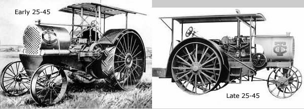 Also introduced in 1913 was the 25- 45. Three styles of 6 x 8 engines ...
