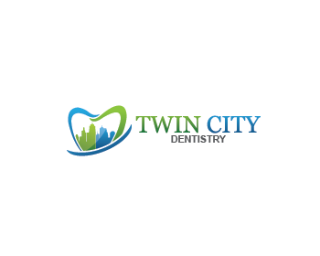 Twin City Dentistry logo design contest. Logo Designs by luckydesign