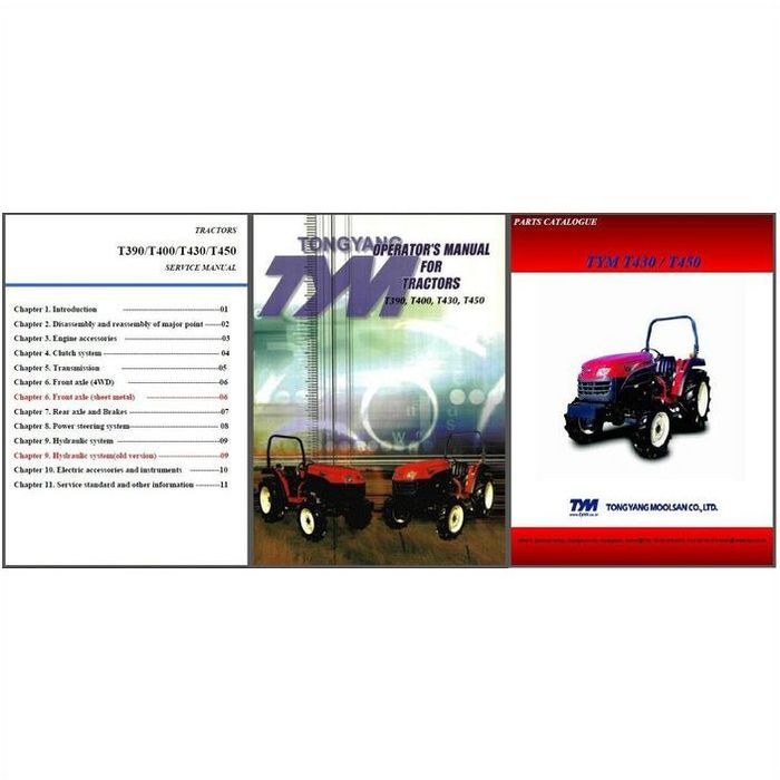 Tym+T390+Tractor TYM T390 T400 T430 T450 Tractor Repair Service Parts ...