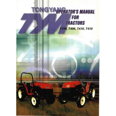 Tonyang TYM T390, T400, T430, T450 Tractors Operator's Manual 2004 $9 ...