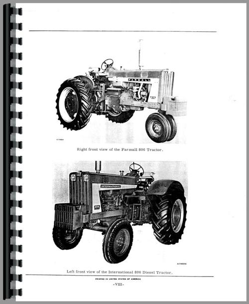 Parts Manual for International Harvester 2806 Industrial Tractor ...