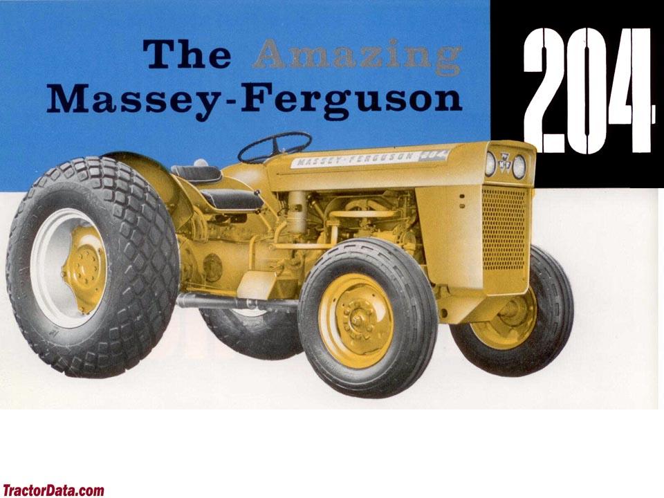 TractorData.com Massey Ferguson Work Bull 204 industrial tractor ...