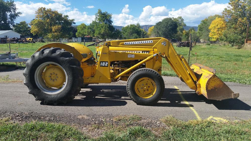 Massey Ferguson MF 204 Industrial Loader Tractor Power Steering Gas ...