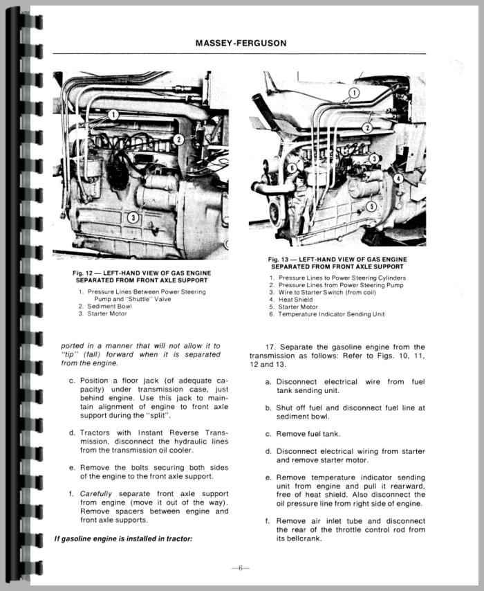 Massey Ferguson 50A Industrial Tractor Service Manual (HTMH-SMF50)
