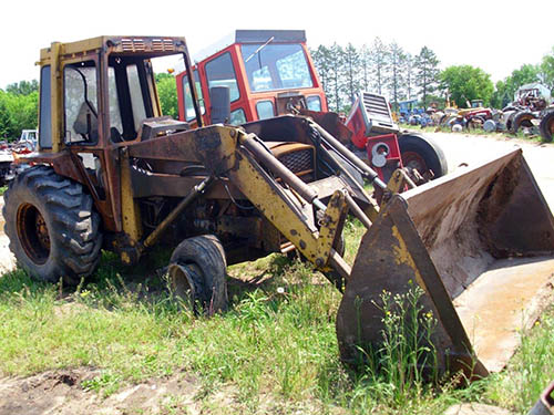 Massey Ferguson 50C industrial salvaged for used parts. This unit is ...