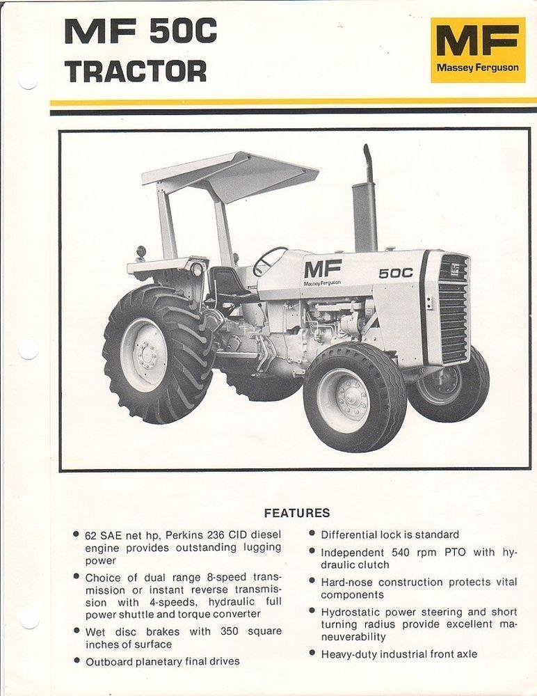 Farm Tractor Brochure - Massey Ferguson - MF 50C - 1980 (FB931) | eBay