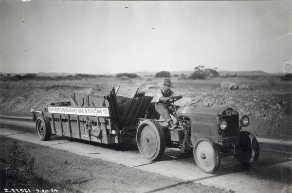 McCormick-Deering 10-20 Industrial Tractor Hauling Wood | Photograph ...
