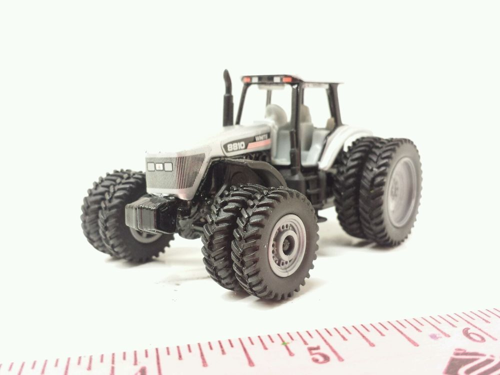 64 ertl custom farm toy agco white 8810 tractor front and rear duals ...