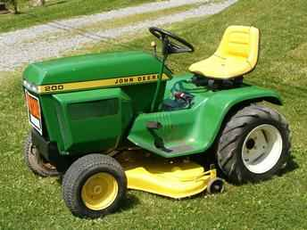 Used Farm Tractors for Sale: John Deere 200 Garden Tractor (2004-07-24 ...