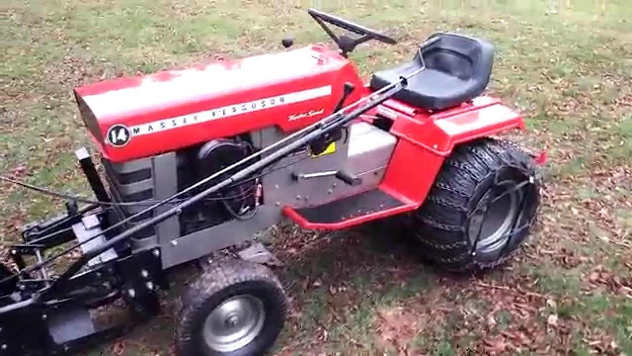 1972 Massey Ferguson MF-14 tractor - YouTube