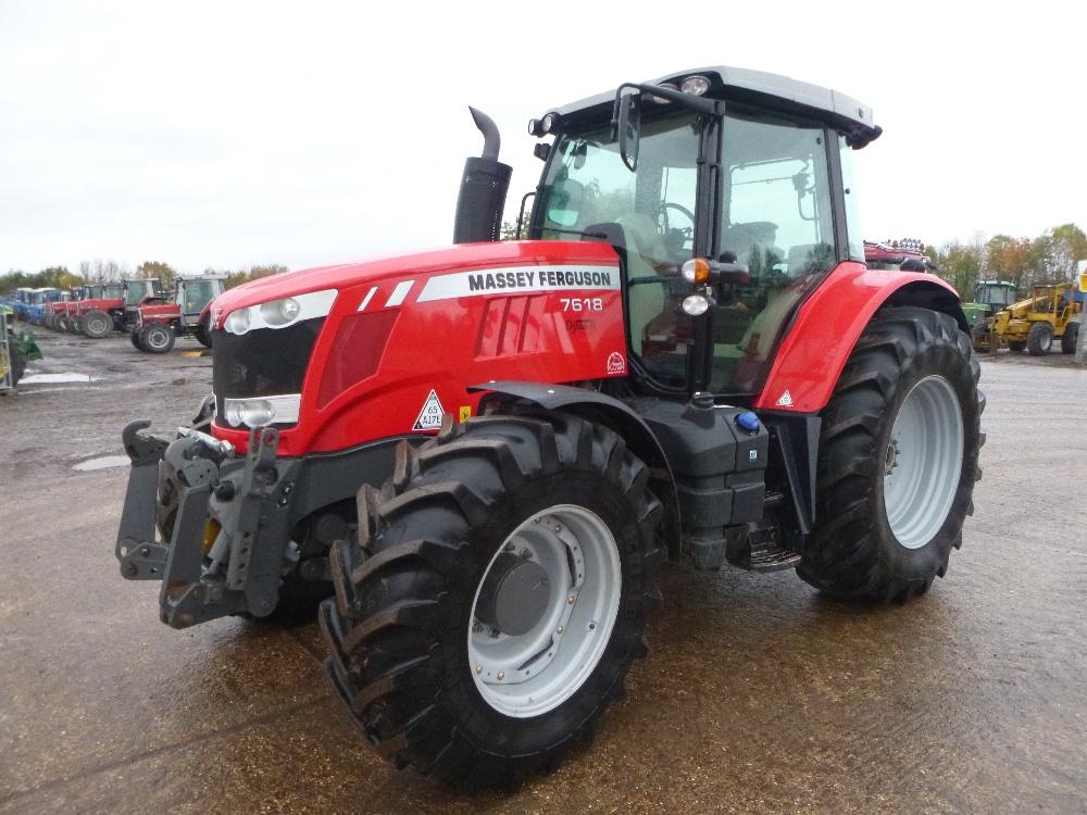 Lot 1241 - Massey Ferguson 7618 Tractor 1650 Hrs Reg. No. PO14 GZG Ser ...