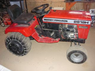 Massey Ferguson 2818H Tractor with 42 Inch Snow Thrower plus Trailer