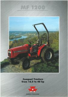 Massey Ferguson 2818H Tractor with 42 Inch Snow Thrower plus Trailer ...