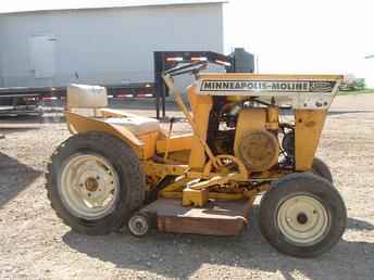 Original Ad: Minneapolis-Moline 108 lawn tractor with deck, good ...