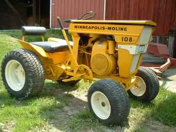 Original Ad: A real hard to find Minneapolis Moline 108 garden tractor ...
