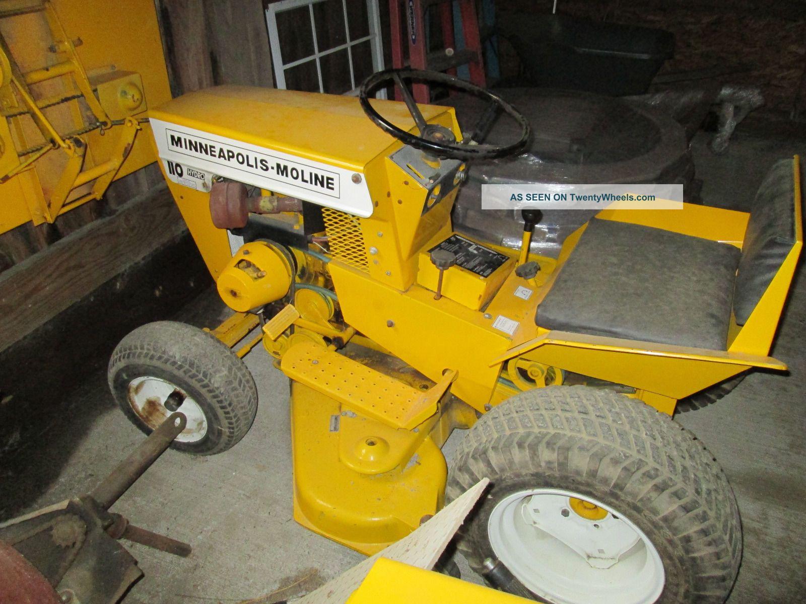 Minneapolis Moline 110 Hydro Garden Tractor Antique & Vintage Farm ...