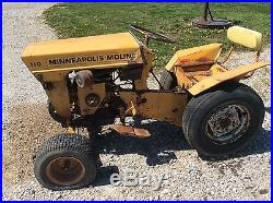 110 Minneapolis Moline Garden Tractor : Minneapolis Moline Tractor