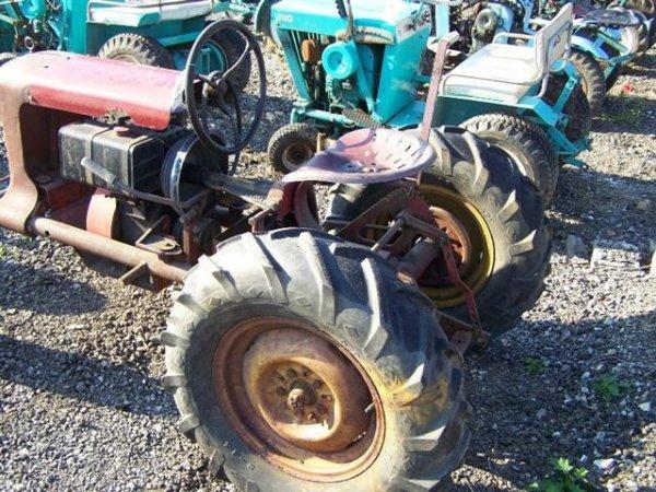 2142: Antique Copar Panzer T220 Lawn & Garden Tractor : Lot 2142