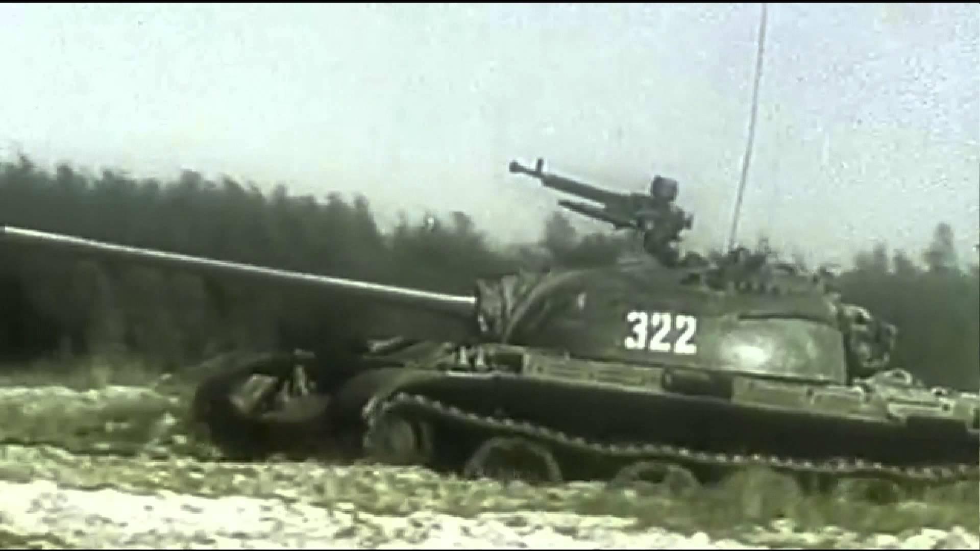 NVA Panzer T55 - Fahrausbildung - Unteroffiziersschule Eggesin ...