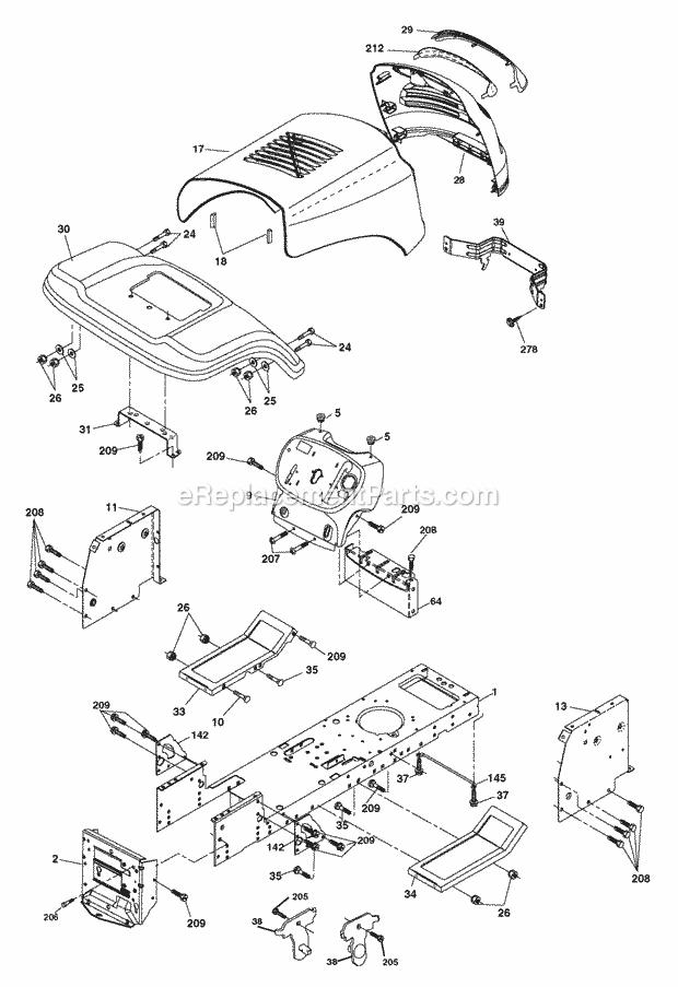 Poulan PB1638LT Parts List and Diagram - (2006)(96012004401 ...