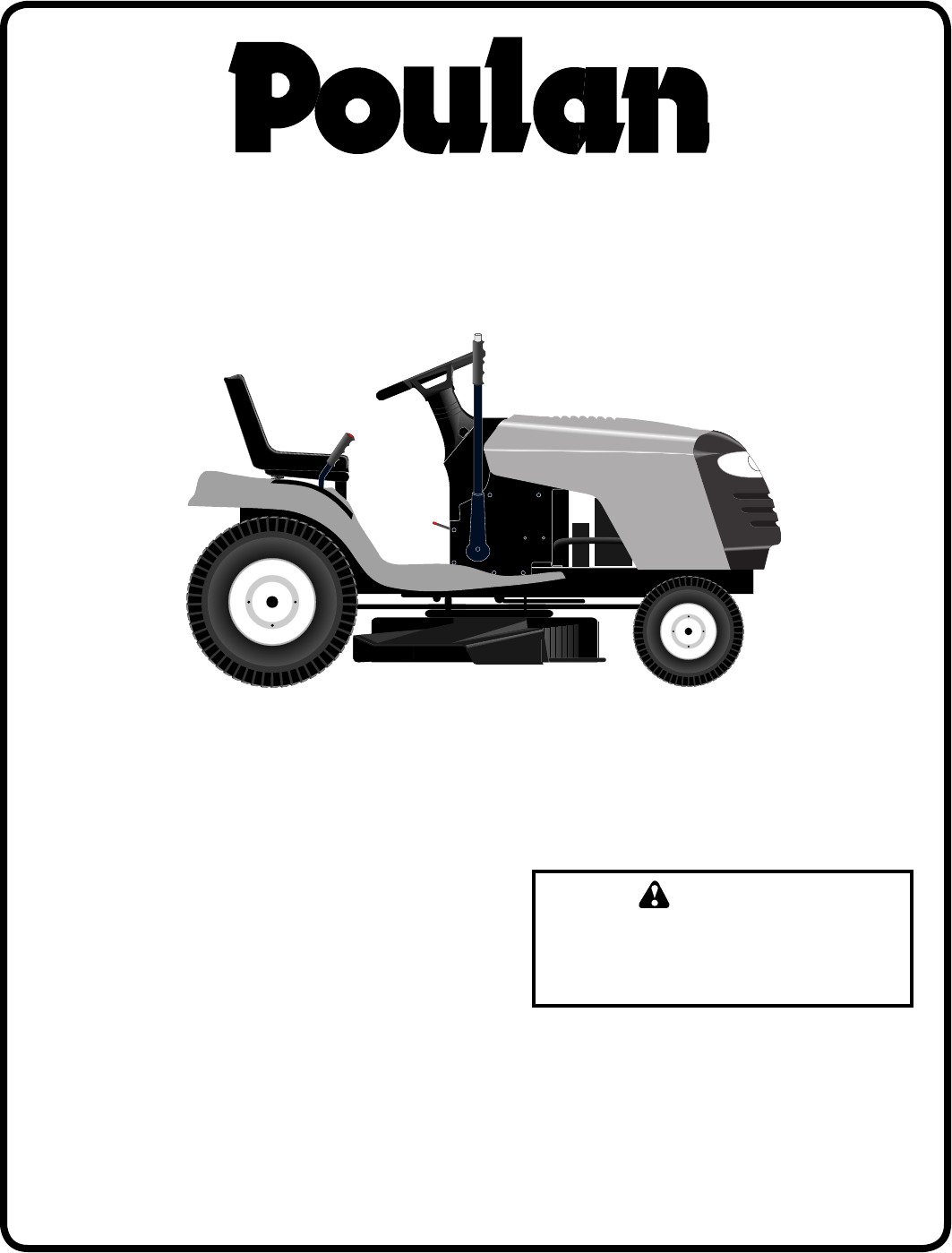 Poulan PB1638LT Lawn Mower User Manual