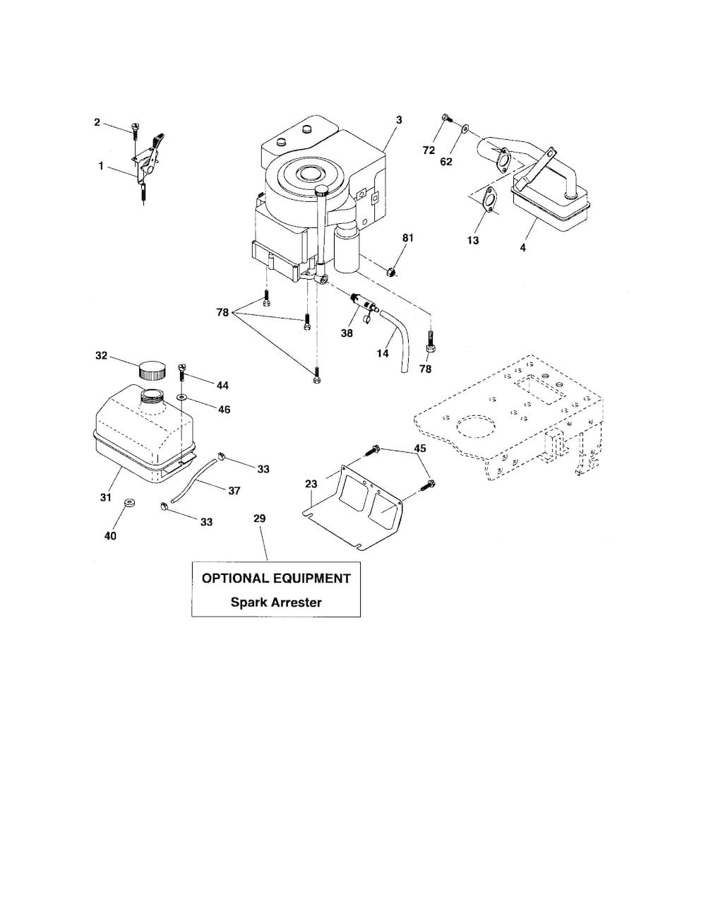 Poulan Tractor model # PB1638LT