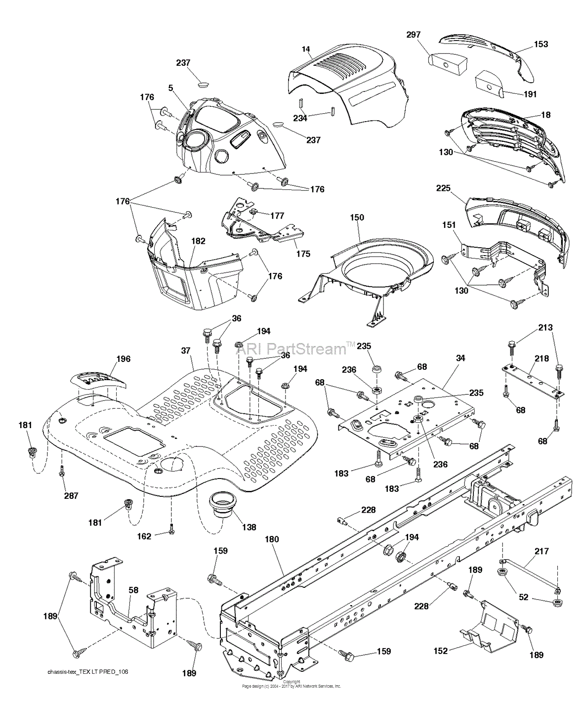 Poulan PB175A46 - 96042015300 (2013-09) Parts Diagram for CHASSIS ...