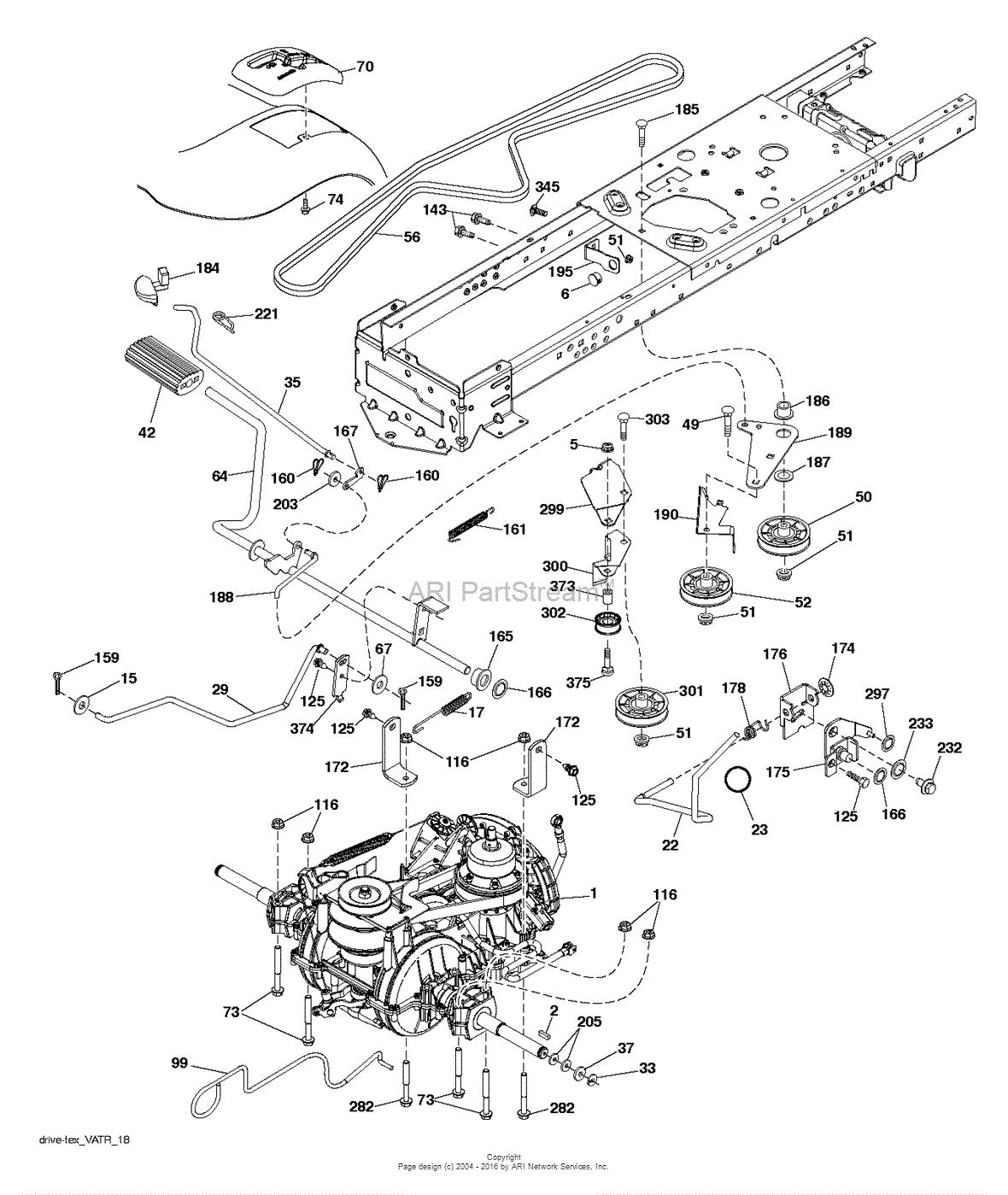 Poulan PB175A46 - 96042015700 (2013-10) Parts Diagram for DRIVE