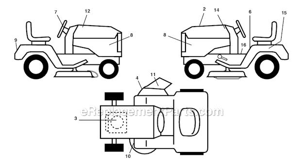 Poulan PB1842LT Parts List and Diagram - (96012004500 ...