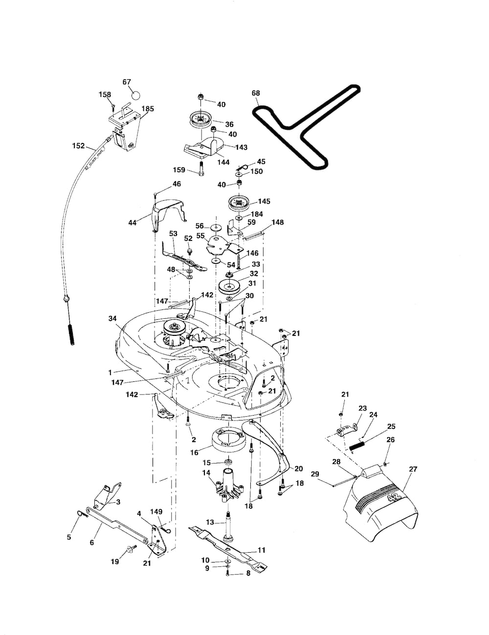 ... and Parts List for POULAN Riding-Mower-Tractor-Parts model # PB1842LT