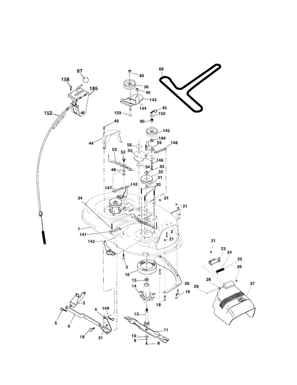 Poulan Tractor model # PB18542LT