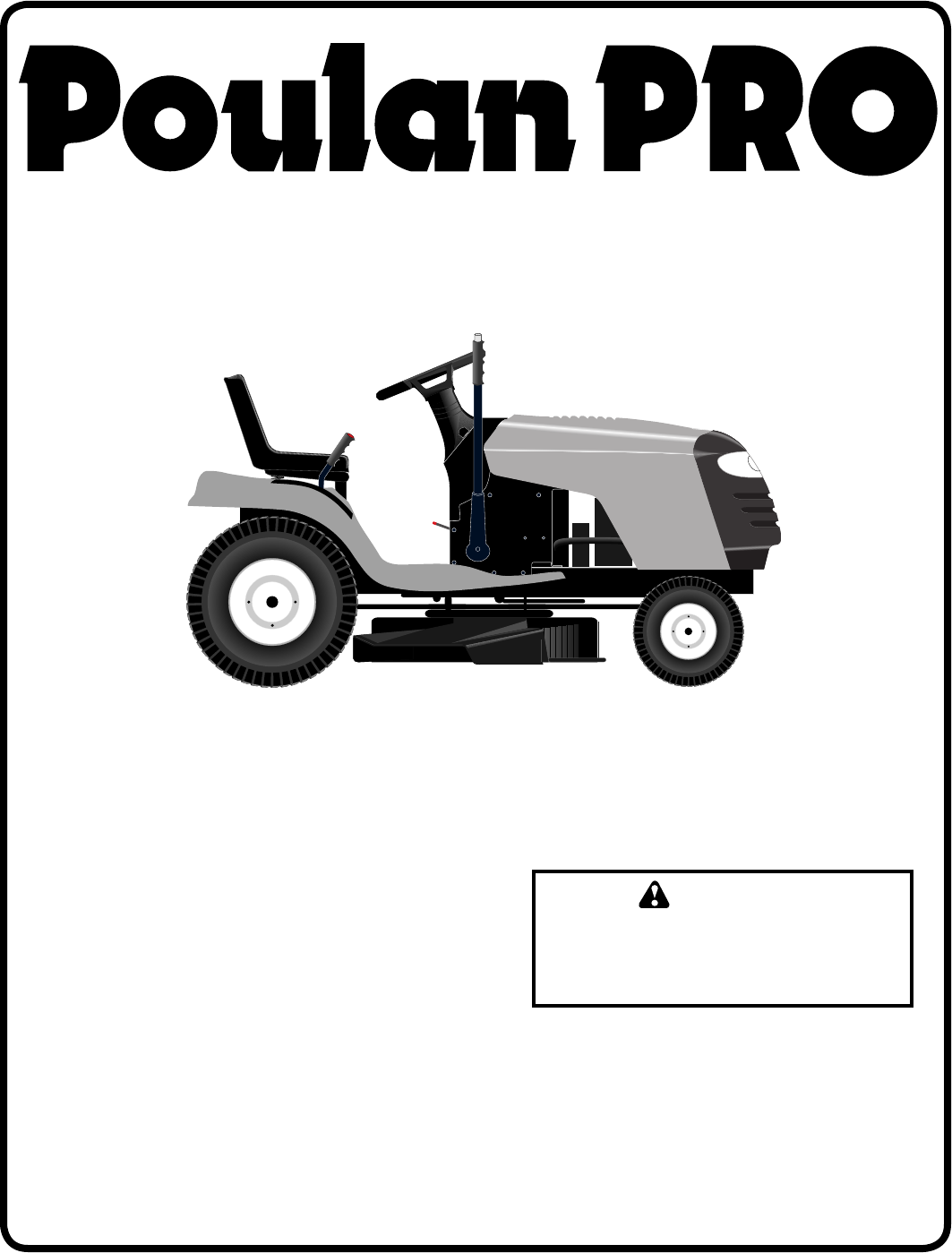 Poulan PB18542LT Lawn Mower User Manual