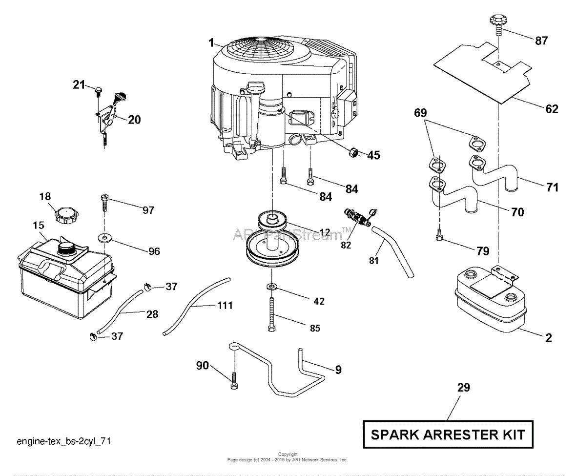 Poulan PB18VA46 - 96042018000 (2014-09) Parts Diagram for ENGINE