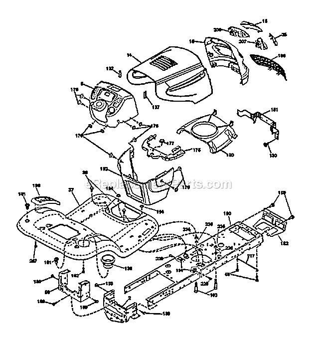 Poulan PB19546LT Parts List and Diagram - (96042003505 ...