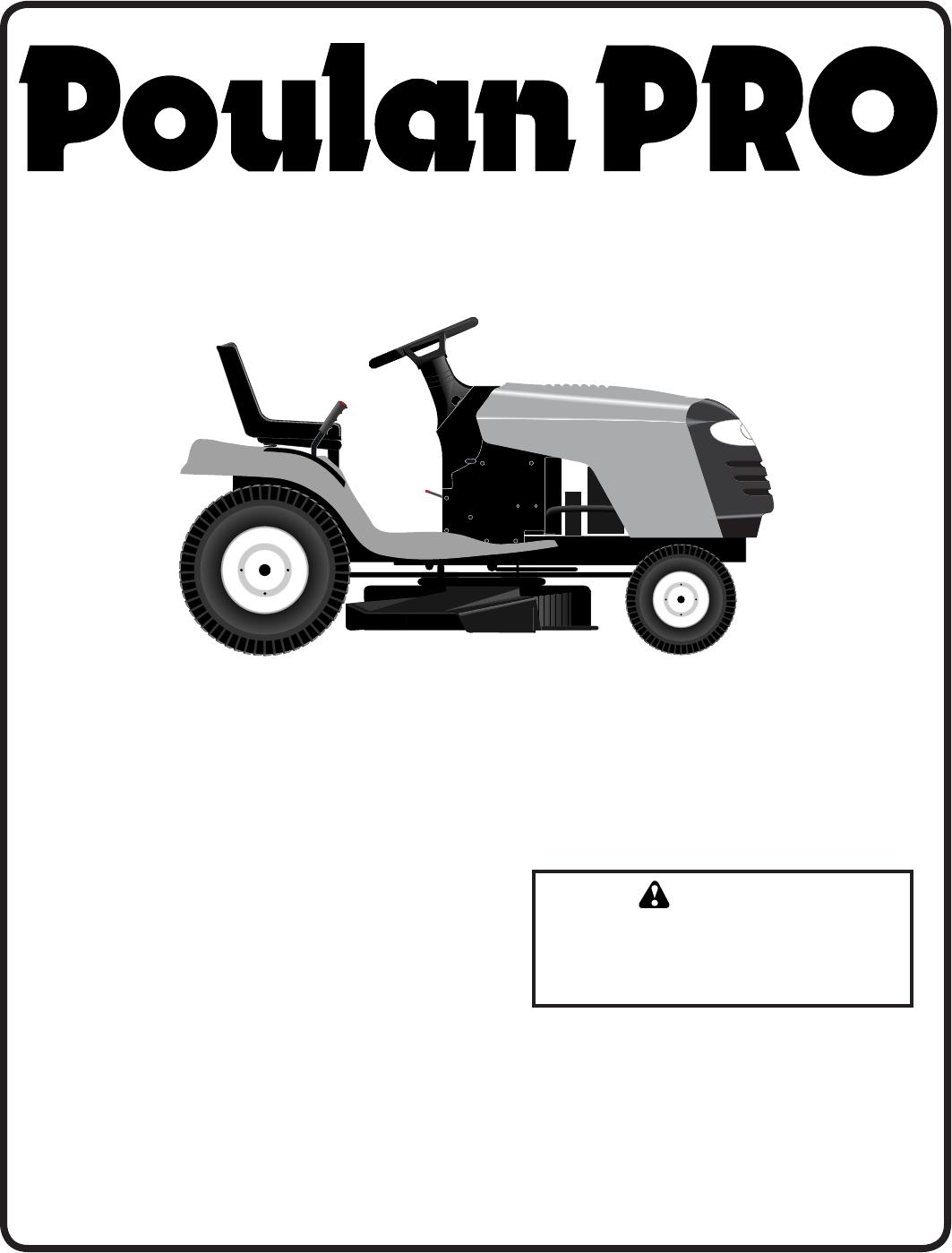 Poulan pb19546lt Lawn Mower User Manual