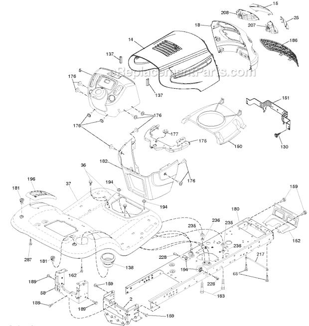 Poulan PB19546LT Parts List and Diagram - (96048001700 ...