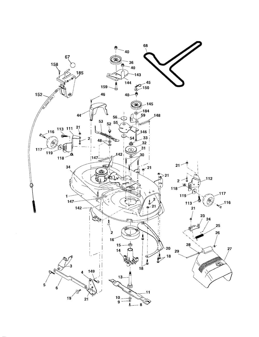 Poulan Tractor model # PB19H42LT