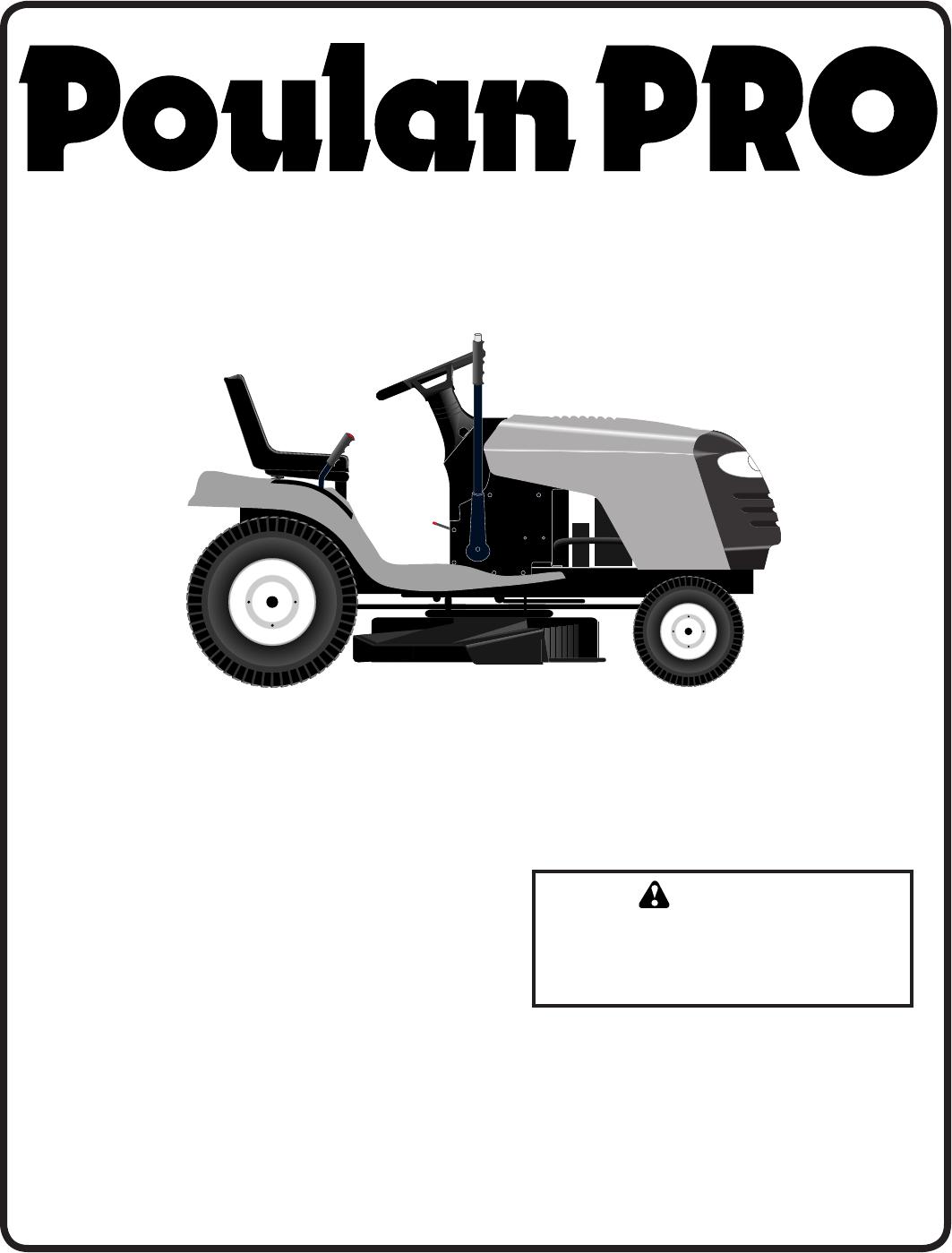 Poulan PB19H42LT Lawn Mower User Manual