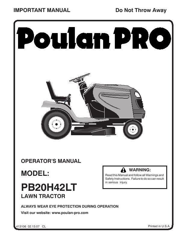 poulan pb20h42lt poulan pb20h42lt lawn mower view all poulan lawn