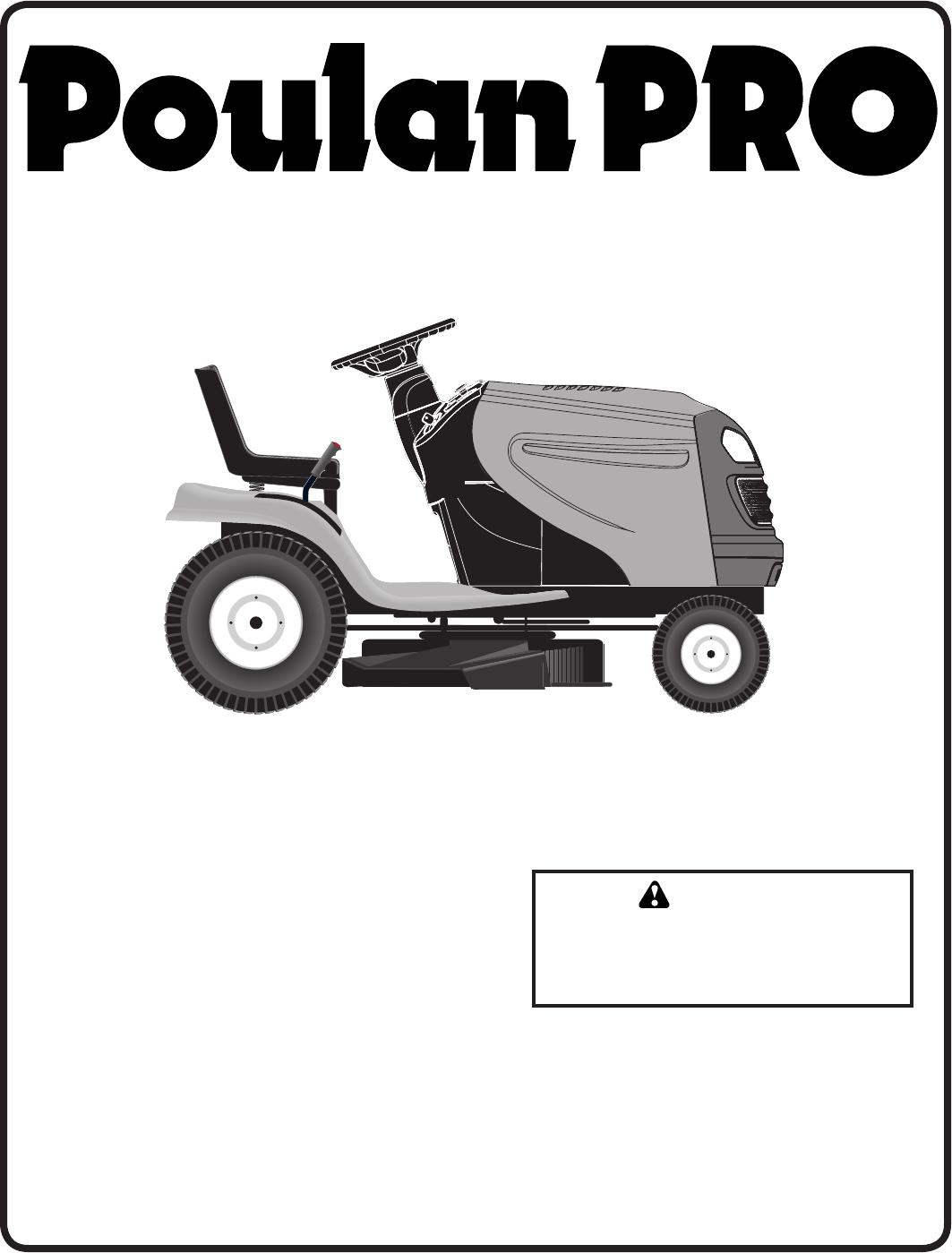 Poulan PB20H42LT Lawn Mower User Manual